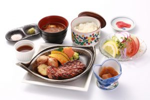 Hida Beef Steak set meal