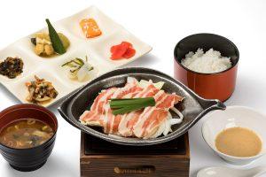 Hida pork set (baked in miso sauce)
