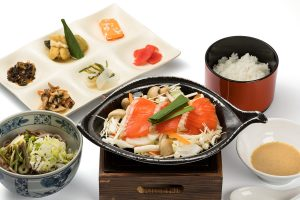 Hotpot grilled hida trout set