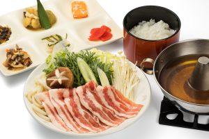 Shabu-shabu Hida pork set