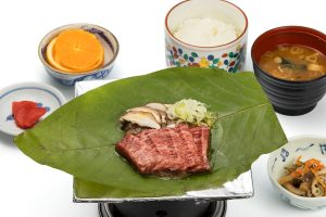 Hida Beef Hoba-miso set meal