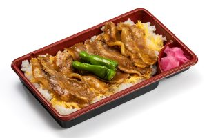 Rice topped with broiled Hida pork