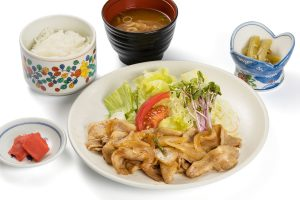 Ginger-fried Hida pork set meal