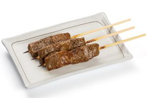 Roasted skewers of Hida beef