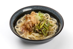 Udon  with edible wild plants