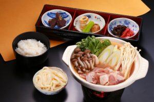 Chicken miso stew set meal