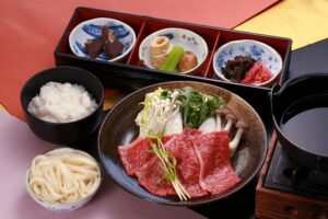 Hida beef sukiyaki set meal