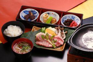 Grilled hida pork set meal