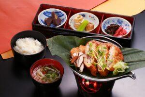 Hobamiso with grilled hida pork cutlet set meal