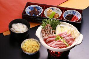 Hida pork salt chanko nabe set meal