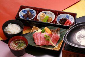 Grilled hida beef set meal