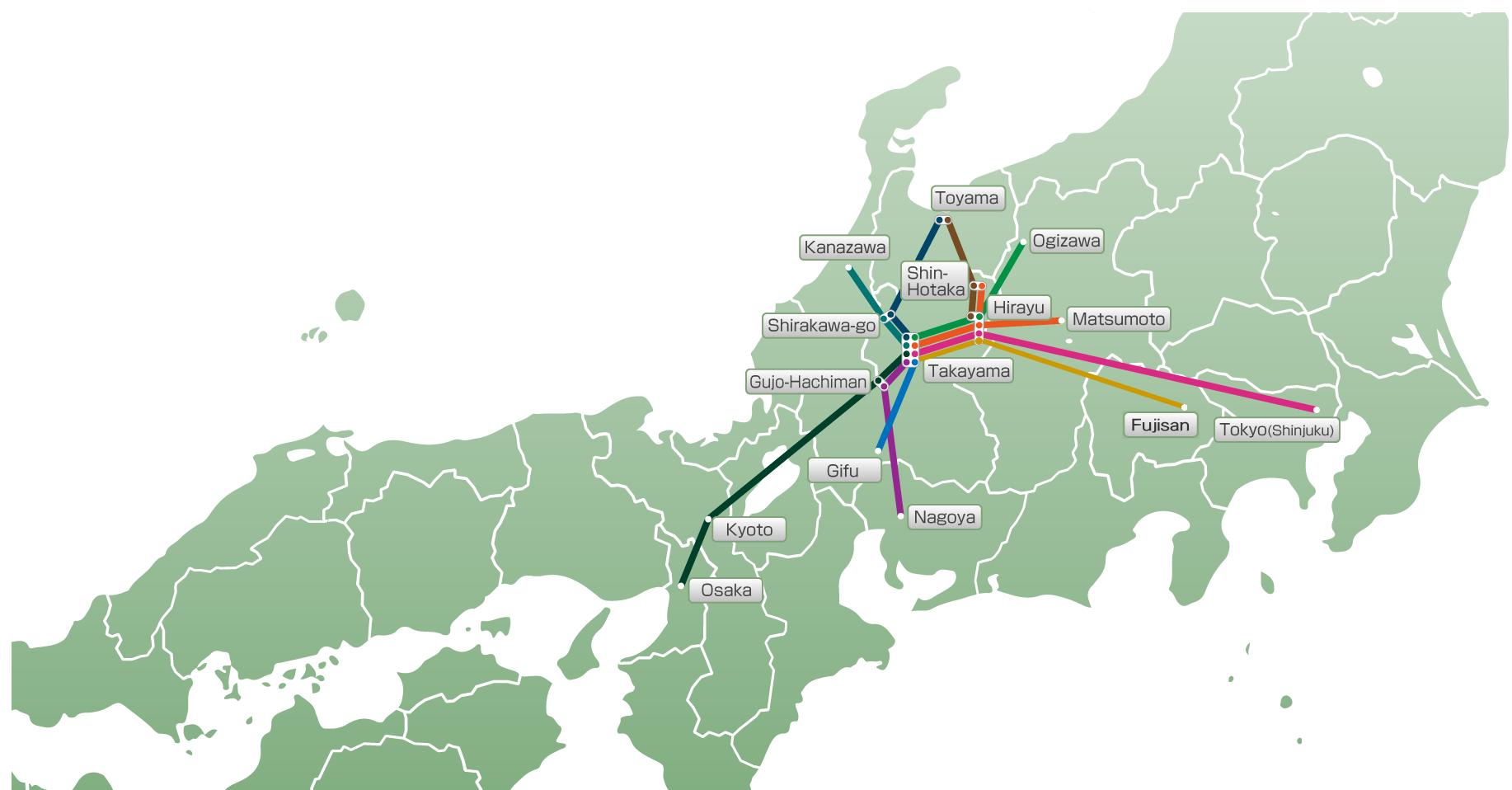 Nouhi Bus 濃飛バス公式サイト - Japan map kanazawa