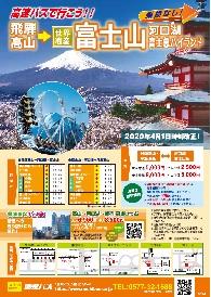 高速バス富士山線時刻表
