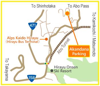 Akandana Parking Access Map(詳細)