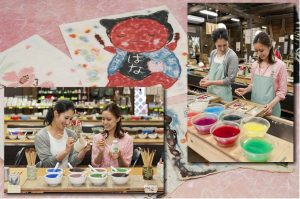 Making Japanese Paper or Decorating Ceramics experience In Gero Onsen